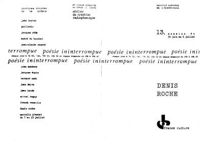 DR poésie ininterrompue 6 juillet 1975 - p.1