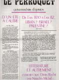 Une de Le Perroquet, numéro 15, 16 octobre 1982